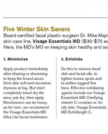 5 winter Skin Savers - as seen in Mens Book December 2014 _Issue